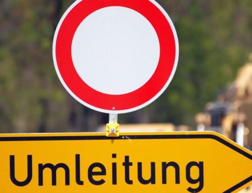 Sperrung des Schafhauser Weges / Autokraft Umleitung