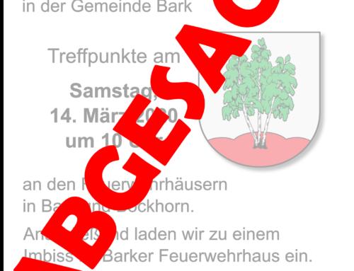Abgesagt: Unser sauberes Schleswig-Hoslstein in der Gemeinde Bark