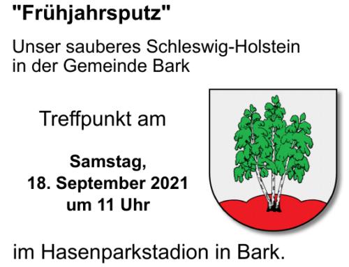 'Frühjahrsputz' am 18. September 2021